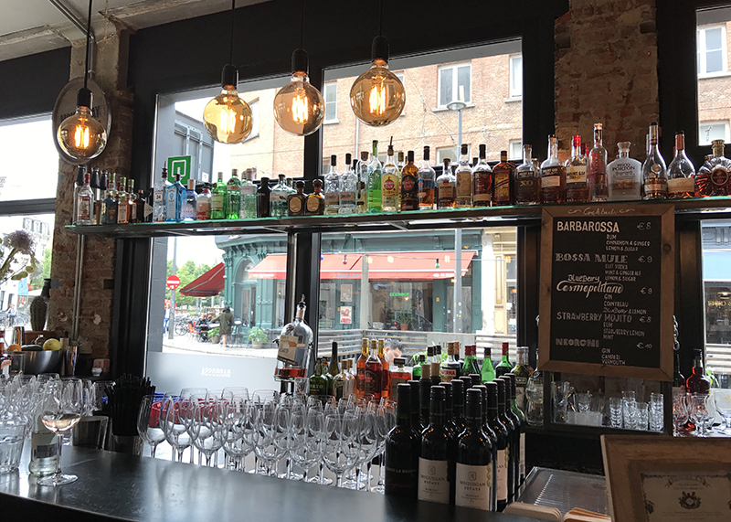 Bar at barbossa with great selection of liquors