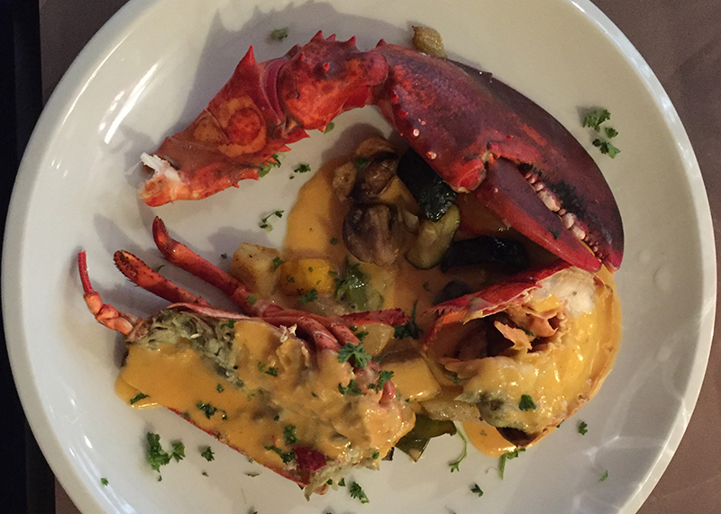 Lobster with nantua sauce