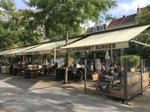 Terrace of Ellis Gourmet Burger on De Keyserlei in Antwerp